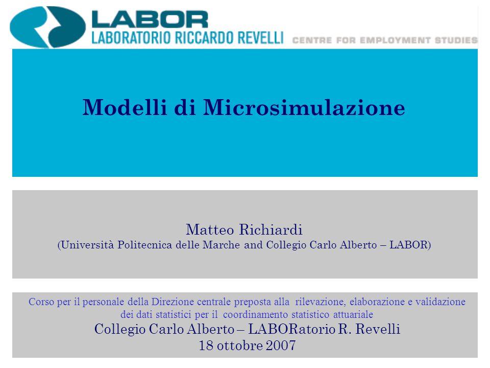 Modelli di Microsimulazione