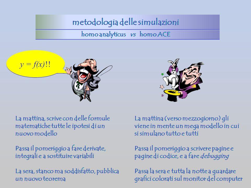 metodologia delle simulazioni homo analyticus vs homo ACE