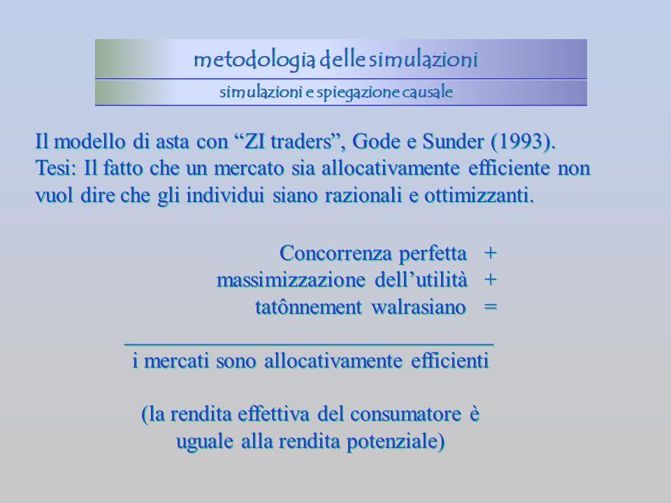 metodologia delle simulazioni simulazioni e spiegazione causale