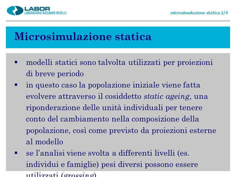 Microsimulazione statica
