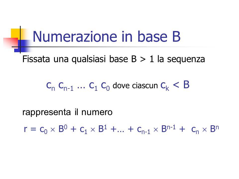 r = c0  B0 + c1  B1 +… + cn-1  Bn-1 + cn  Bn