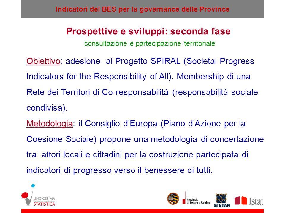 Prospettive e sviluppi: seconda fase consultazione e partecipazione territoriale