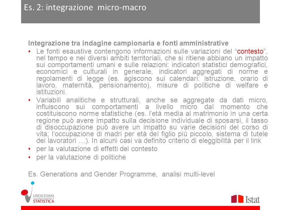 Es. 2: integrazione micro-macro