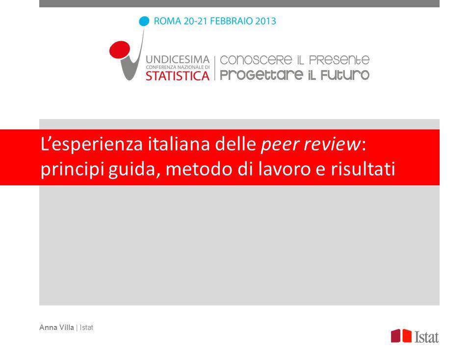 L'esperienza italiana delle peer review: principi guida, metodo di lavoro e risultati
