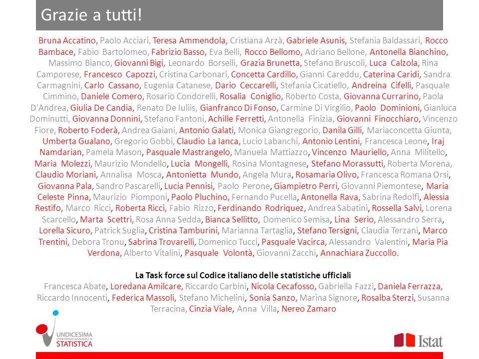La Task force sul Codice italiano delle statistiche ufficiali