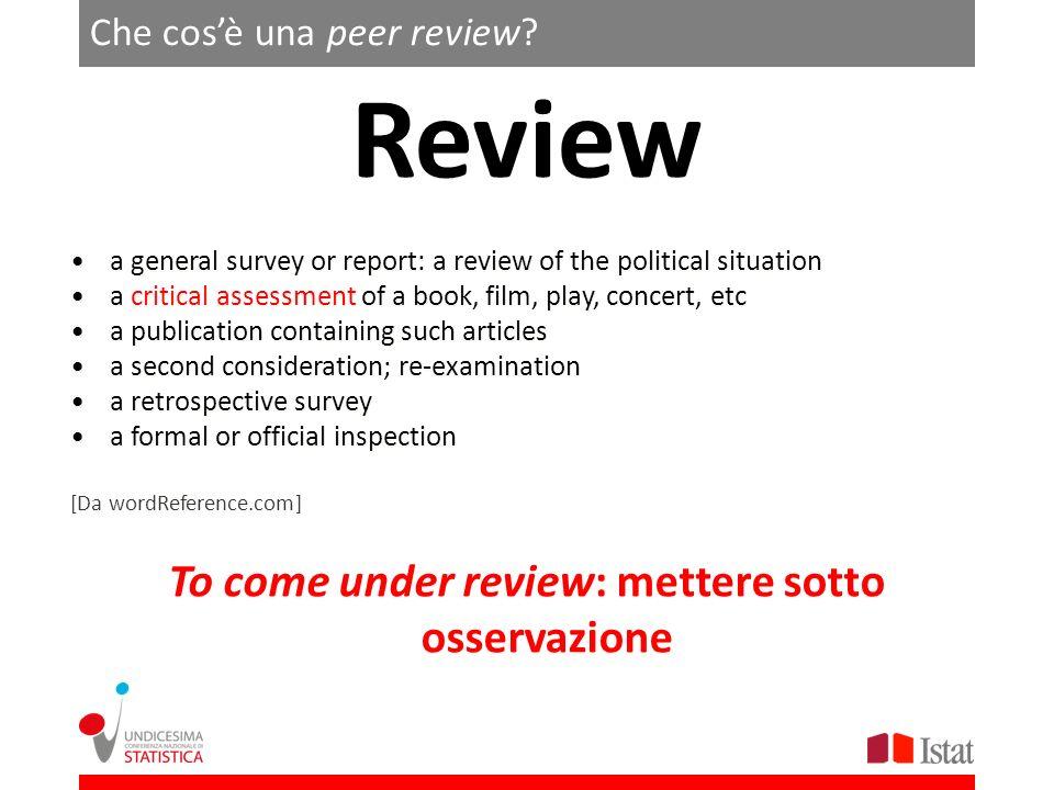 Che cos'è una peer review