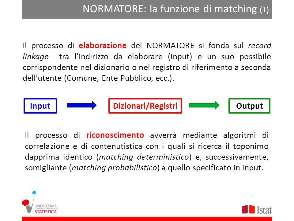 NORMATORE: la funzione di matching (1)