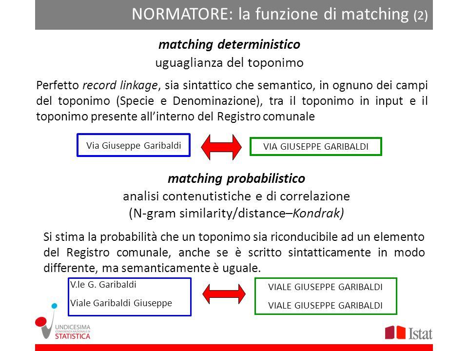 matching deterministico matching probabilistico