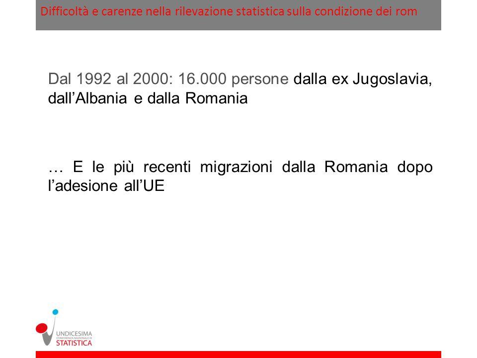 … E le più recenti migrazioni dalla Romania dopo l'adesione all'UE