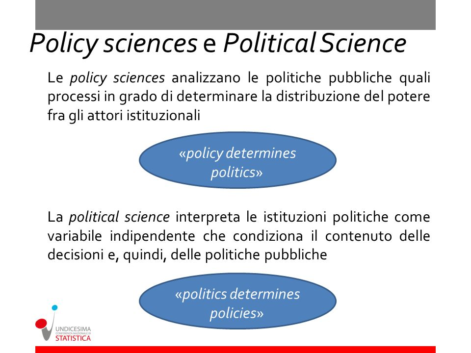 Policy sciences e Political Science