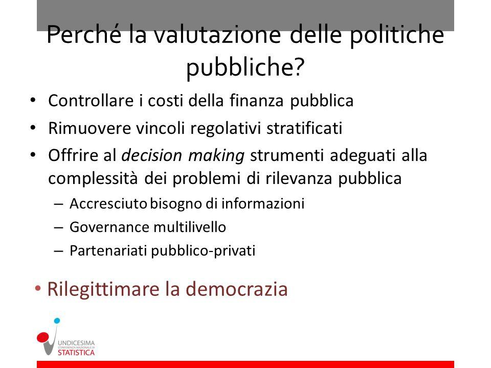 Perché la valutazione delle politiche pubbliche
