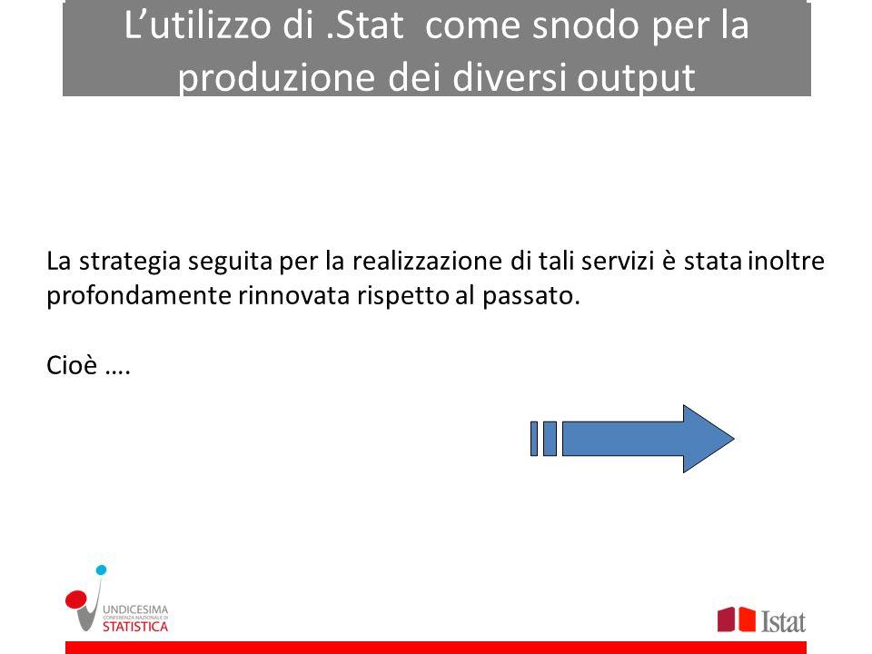 L'utilizzo di .Stat come snodo per la produzione dei diversi output
