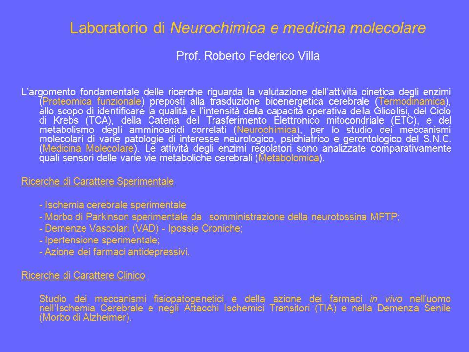 Laboratorio di Neurochimica e medicina molecolare
