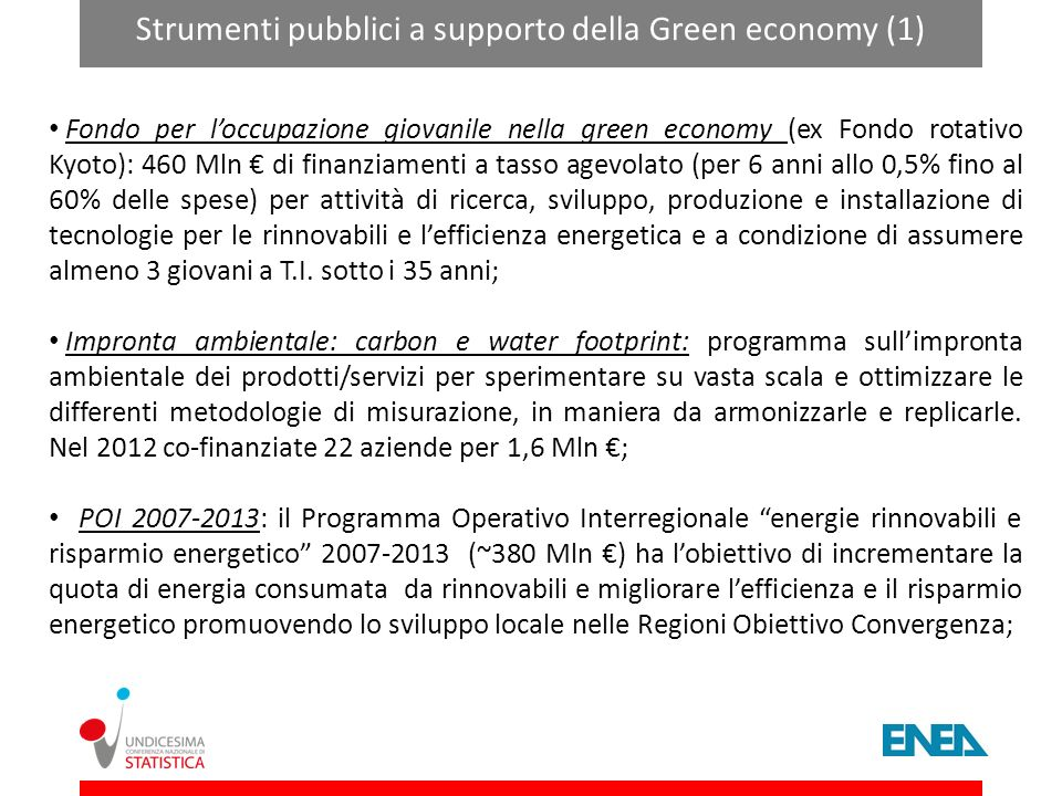 Strumenti pubblici a supporto della Green economy (1)