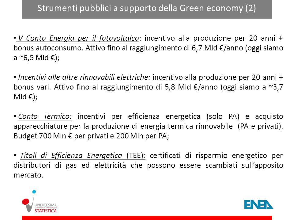 Strumenti pubblici a supporto della Green economy (2)