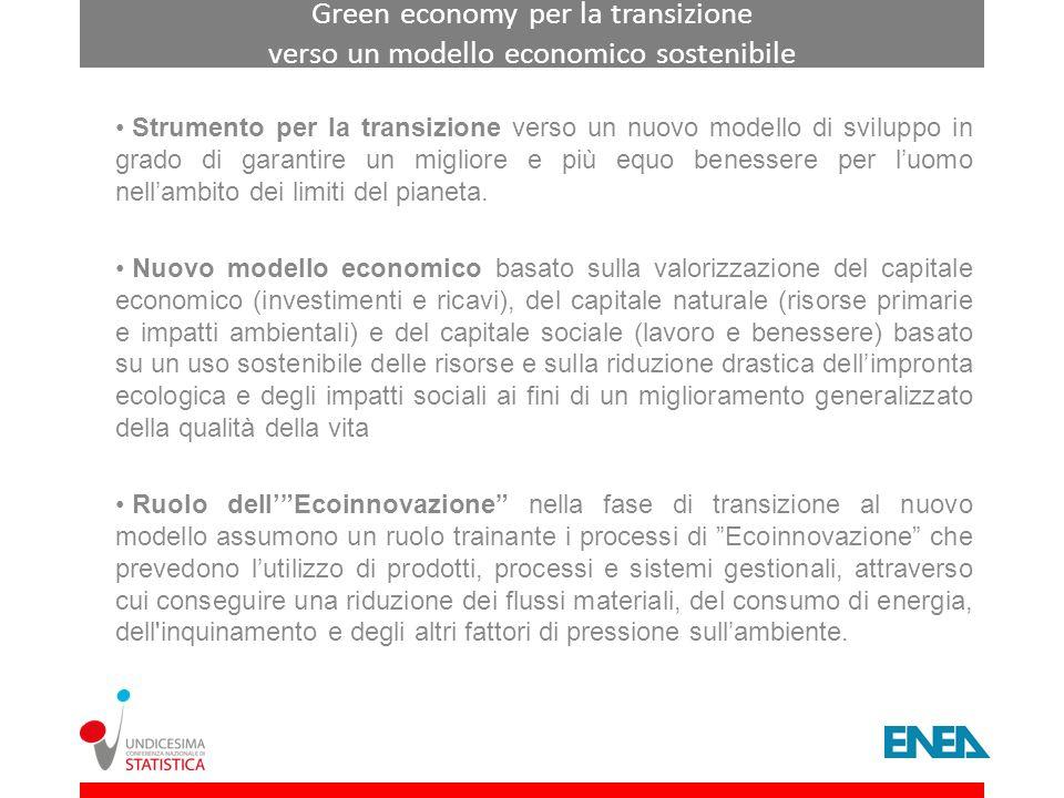 Green economy per la transizione verso un modello economico sostenibile