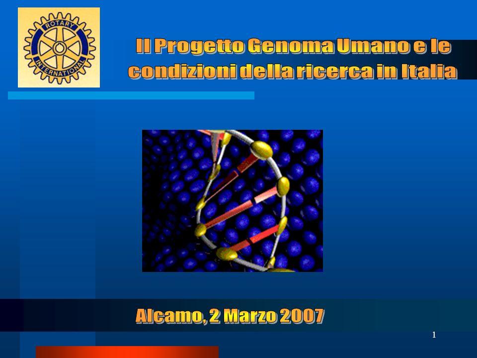 Il Progetto Genoma Umano e le condizioni della ricerca in Italia