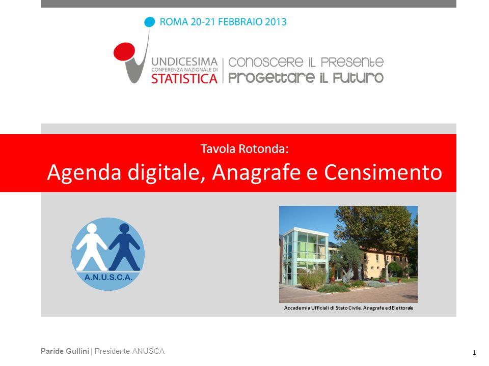 Tavola Rotonda: Agenda digitale, Anagrafe e Censimento