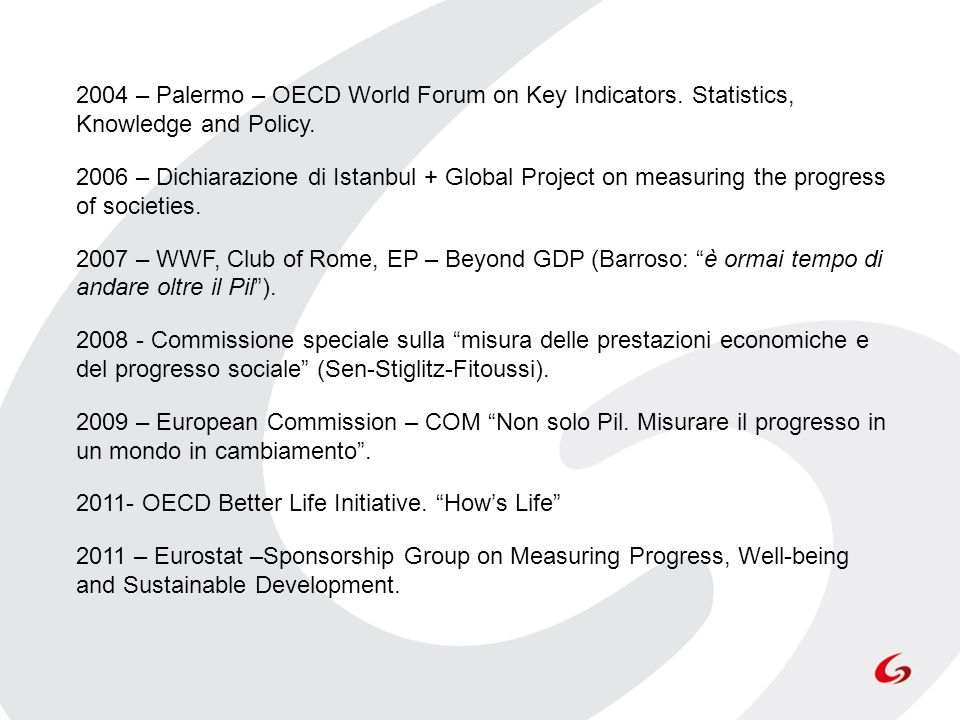 2004 – Palermo – OECD World Forum on Key Indicators