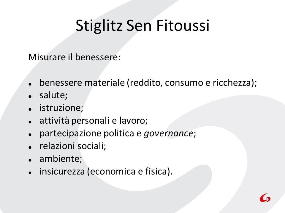 Stiglitz Sen Fitoussi Misurare il benessere: