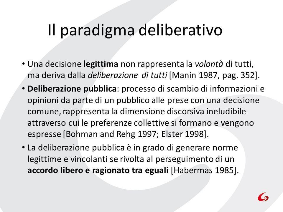 Il paradigma deliberativo