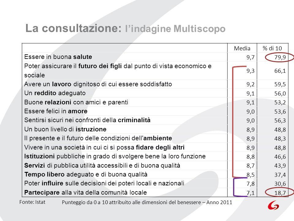 La consultazione: l'indagine Multiscopo