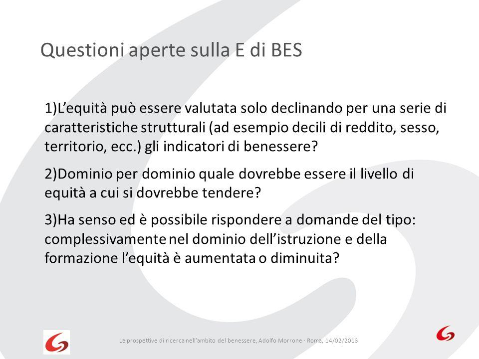 Questioni aperte sulla E di BES