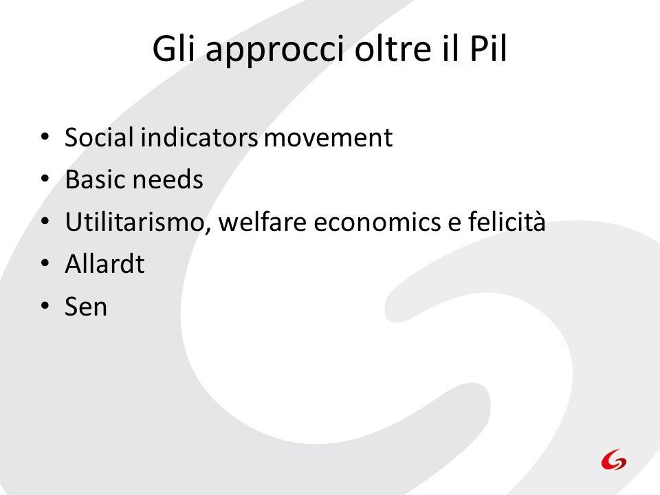 Gli approcci oltre il Pil