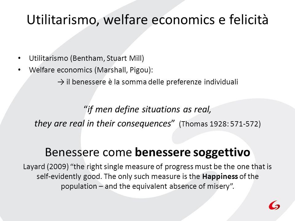 Utilitarismo, welfare economics e felicità