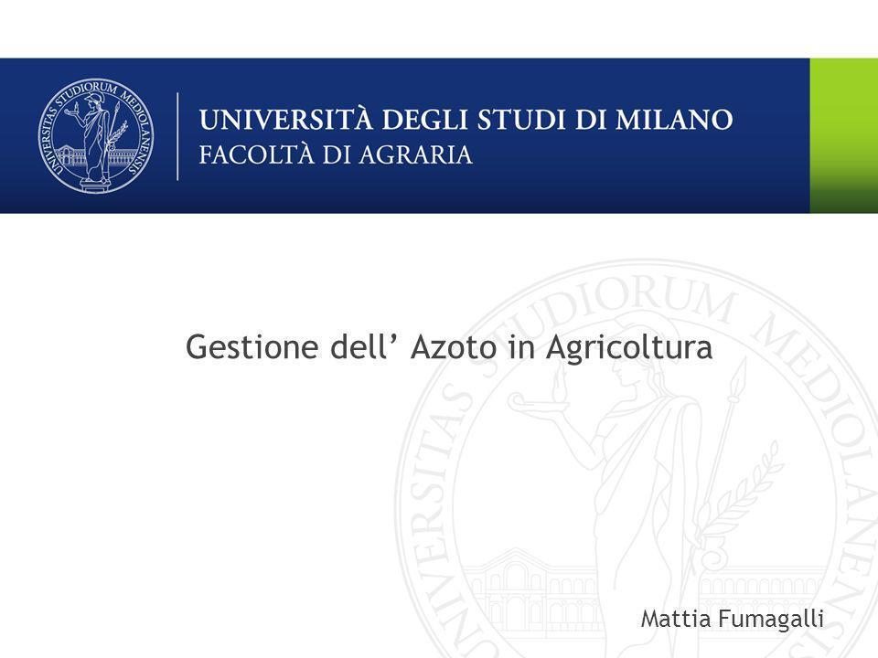 Gestione dell' Azoto in Agricoltura