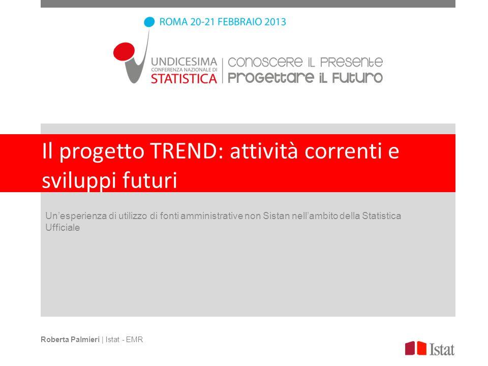 Il progetto TREND: attività correnti e sviluppi futuri