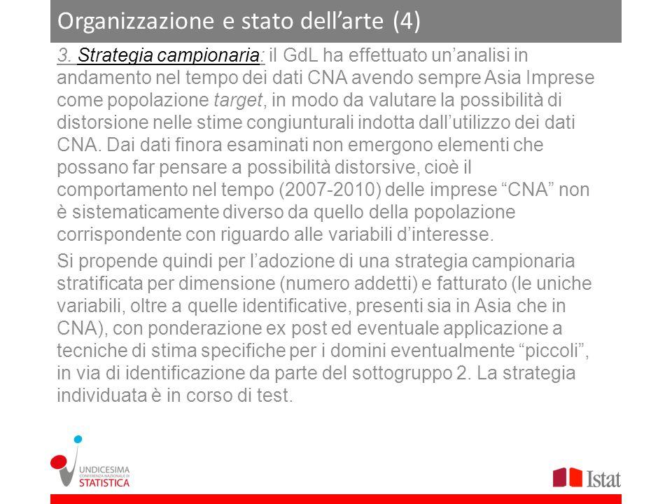 Organizzazione e stato dell'arte (4)