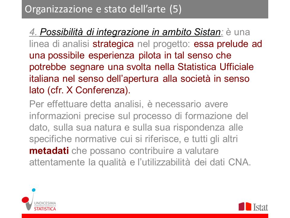 Organizzazione e stato dell'arte (5)