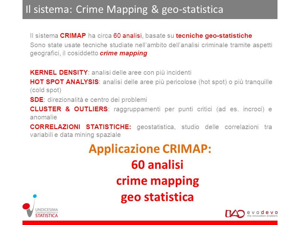 Il sistema: Crime Mapping & geo-statistica