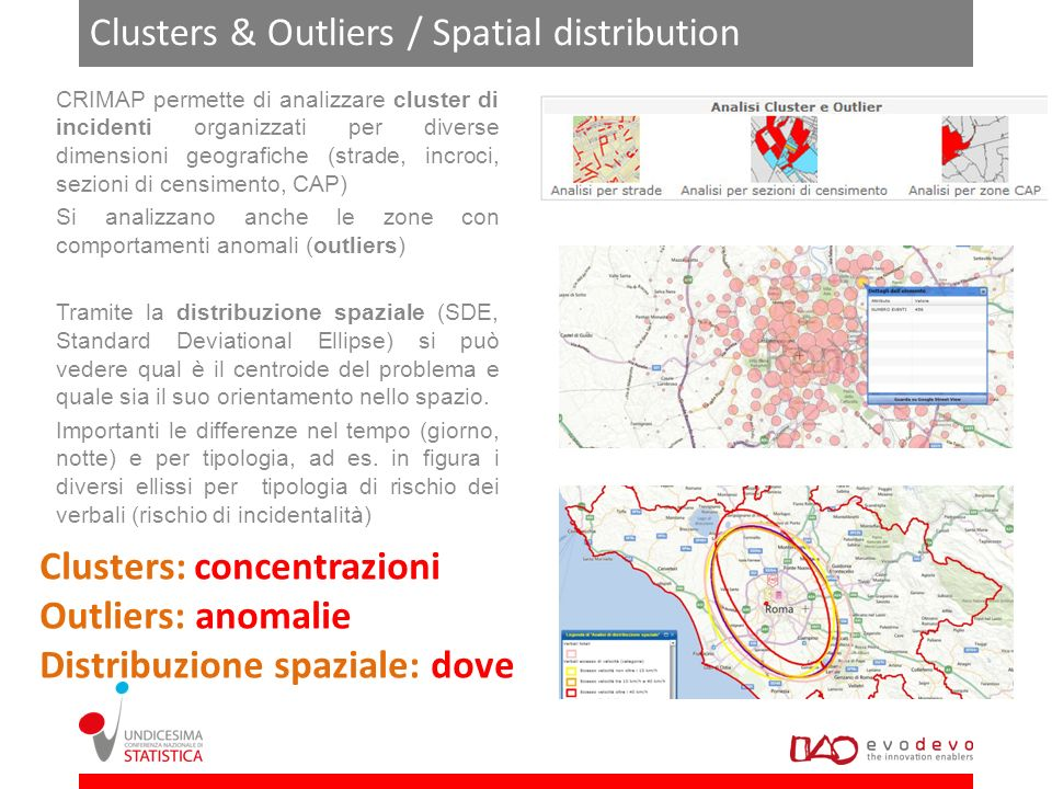 Clusters & Outliers / Spatial distribution