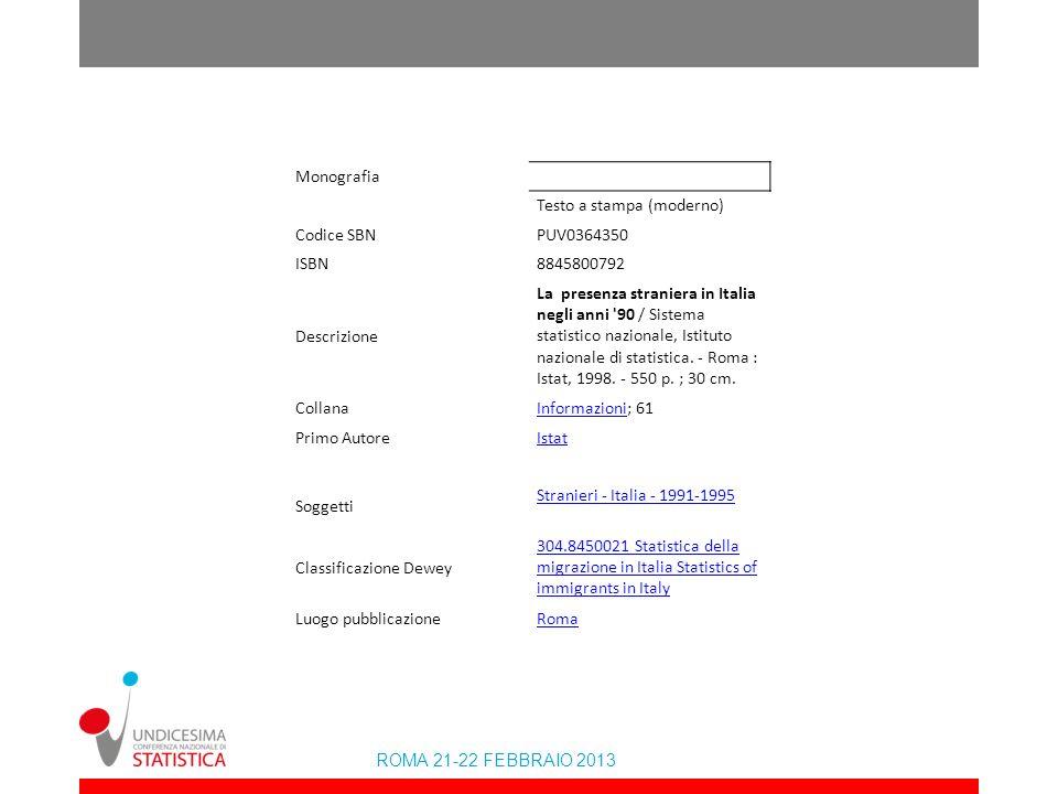Monografia Testo a stampa (moderno) Codice SBN. PUV0364350. ISBN. 8845800792. Descrizione.