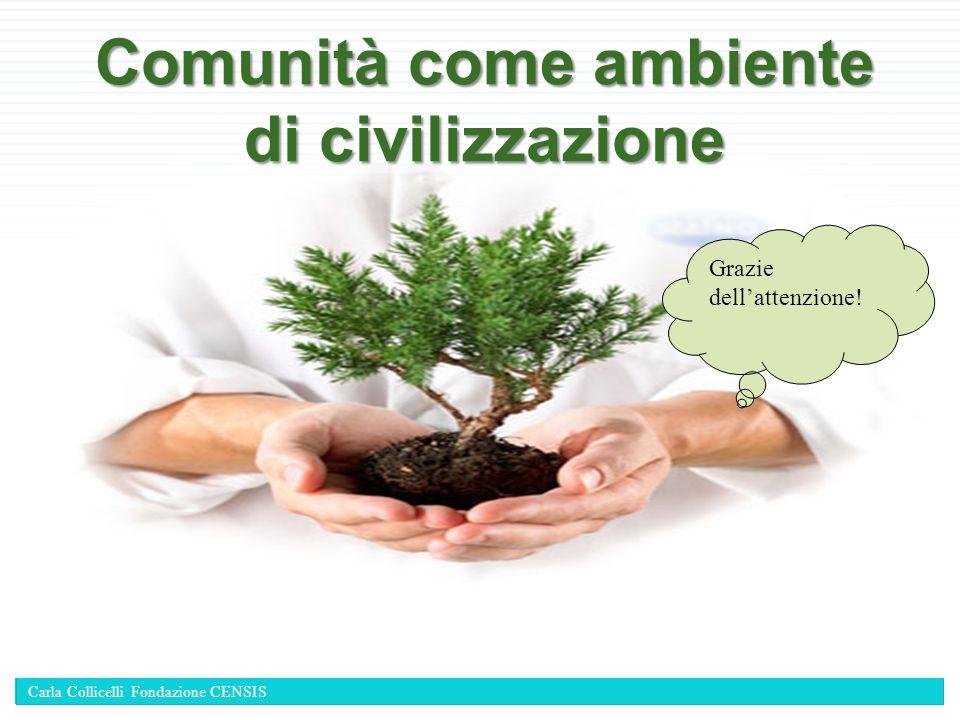 Comunità come ambiente di civilizzazione