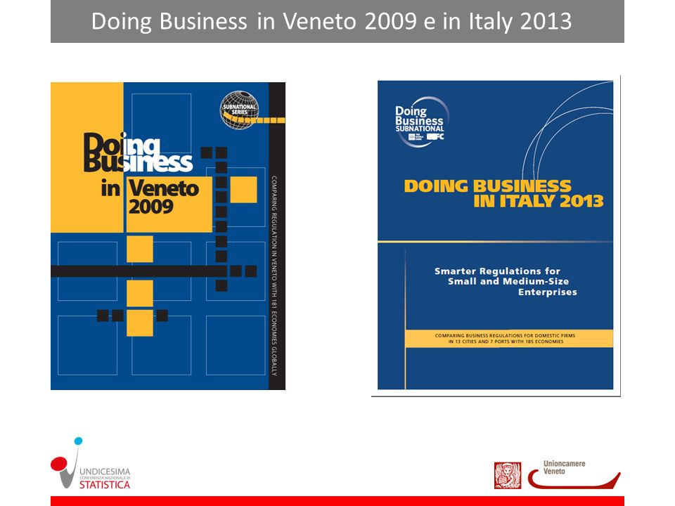Doing Business in Veneto 2009 e in Italy 2013