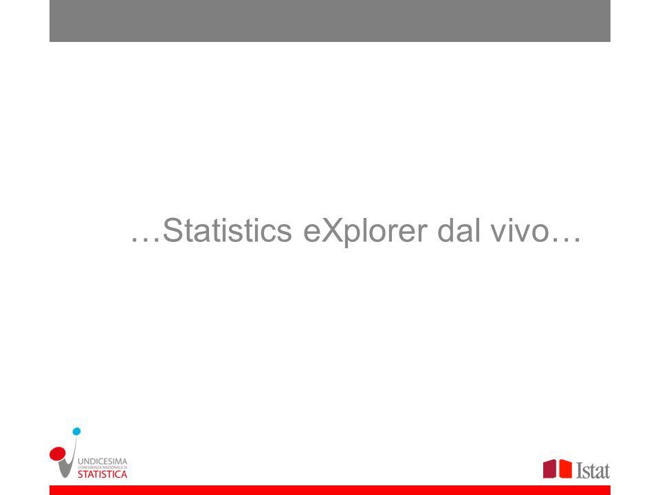 …Statistics eXplorer dal vivo…