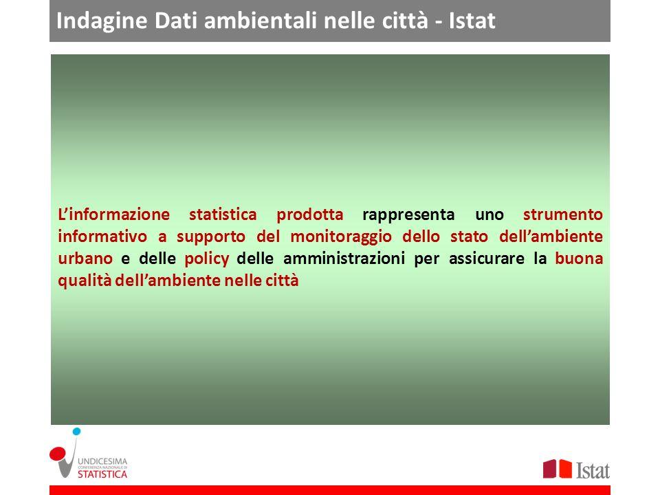 Indagine Dati ambientali nelle città - Istat