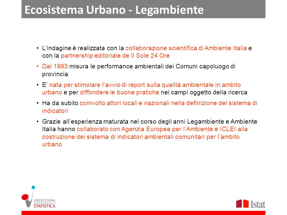 Ecosistema Urbano - Legambiente