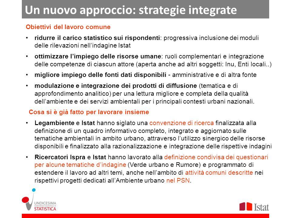 Un nuovo approccio: strategie integrate