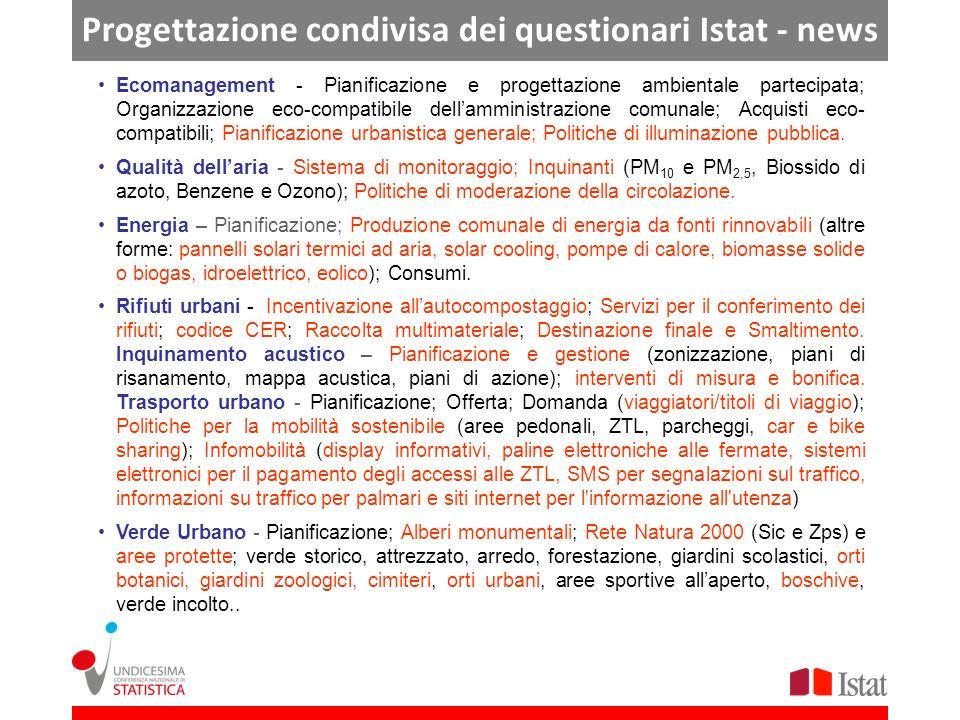 Progettazione condivisa dei questionari Istat - news