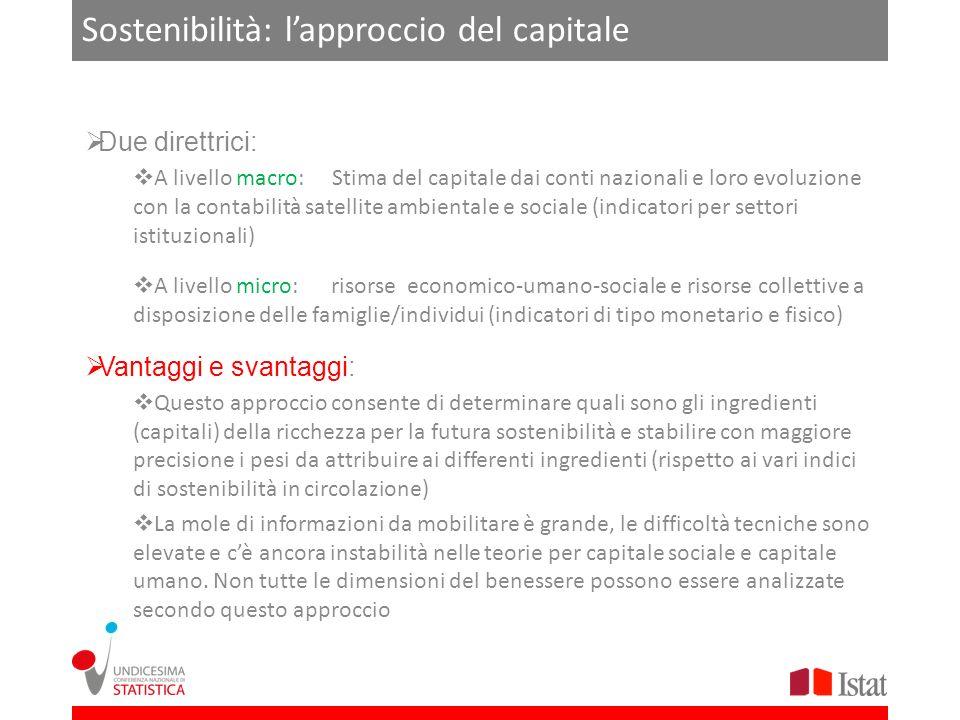 Sostenibilità: l'approccio del capitale
