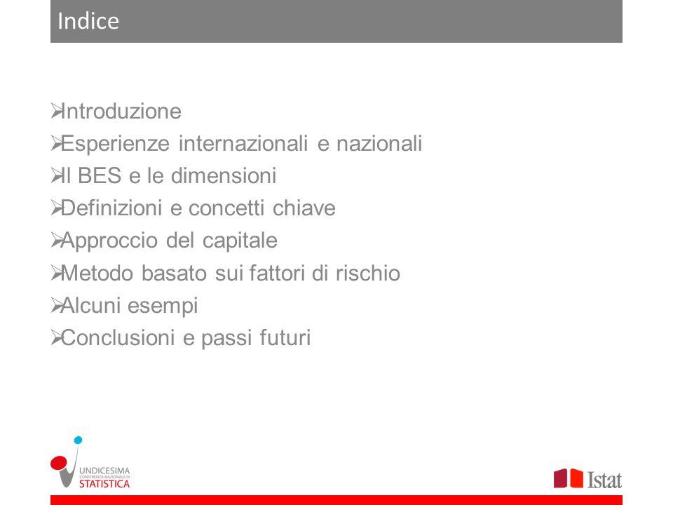 Indice Introduzione Esperienze internazionali e nazionali