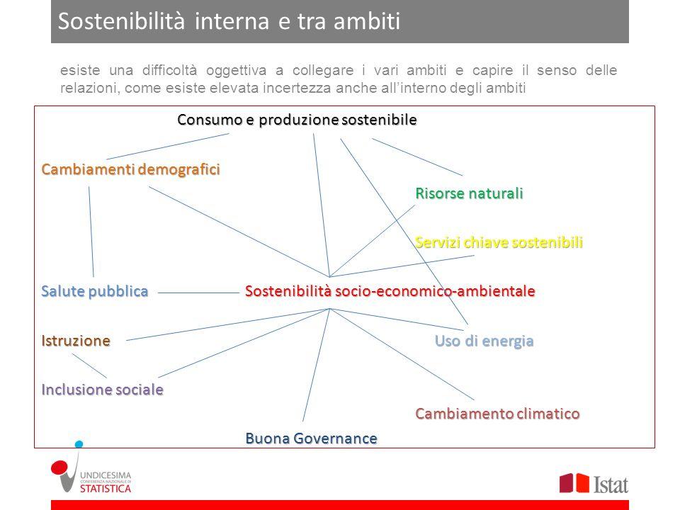 Sostenibilità interna e tra ambiti