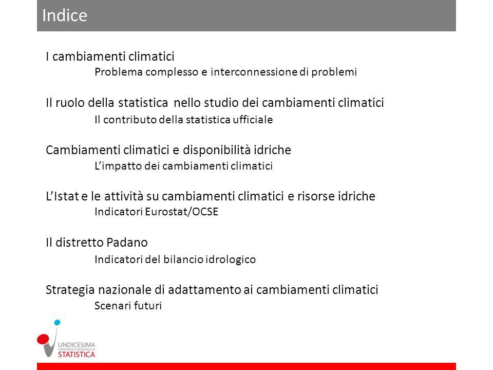 Indice I cambiamenti climatici