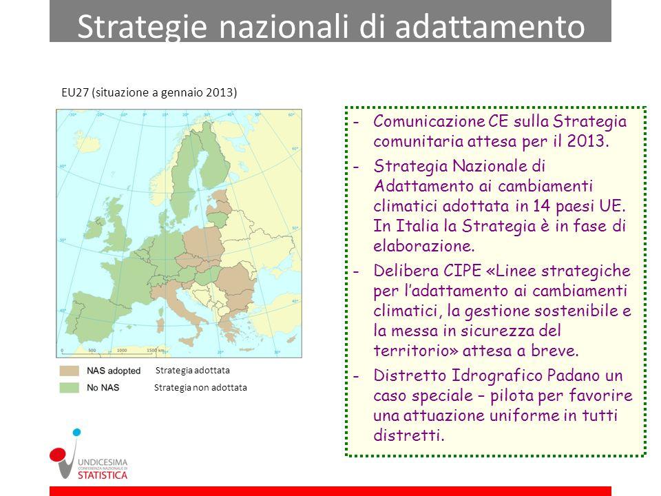 Strategie nazionali di adattamento