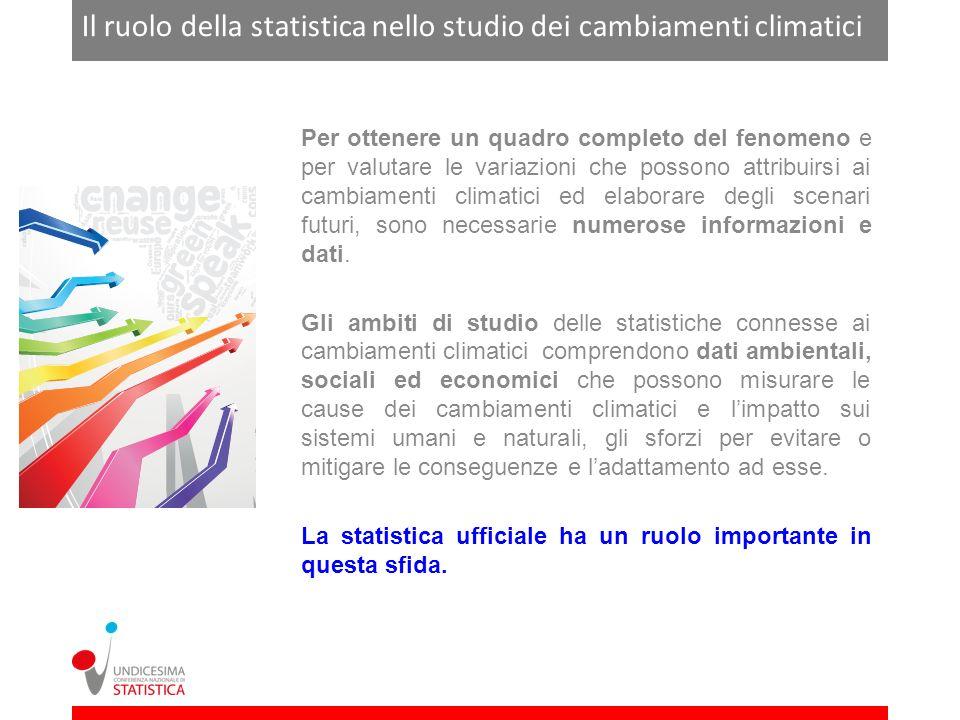 Il ruolo della statistica nello studio dei cambiamenti climatici