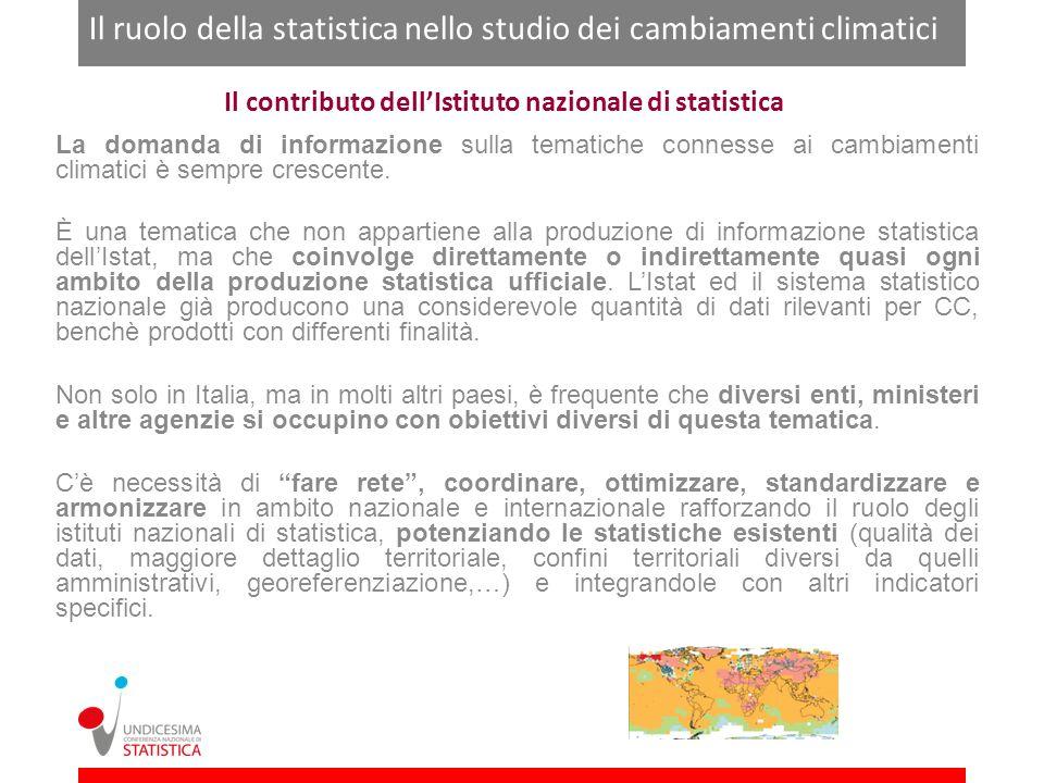 Il contributo dell'Istituto nazionale di statistica